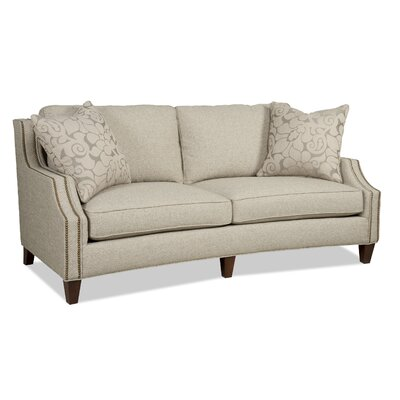 Austin Sofa Nail Head Finish: Black Nickel 6B