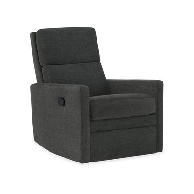 Kemper Swivel Glider Recliner Upholstery: 2659 Caviar, Type: Manual