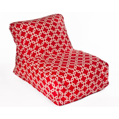 Links Bean Bag Lounger Upholstery: Red