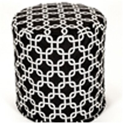 Links Pouf Upholstery: Black