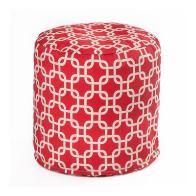 Links Pouf Upholstery: Red