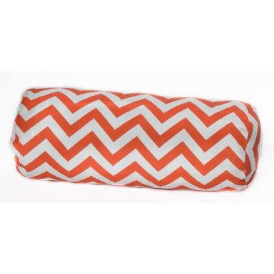 OC Fun Saks Chevron Bolster Outdoor Pillow - Color: Orange at Sears.com