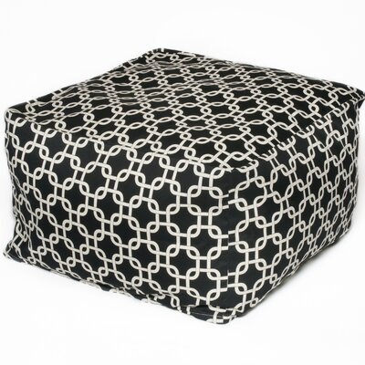 Links Bean Bag Pouf Upholstery: Black
