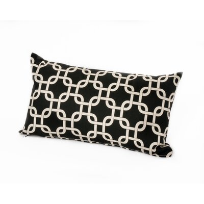 Links Lumbar Outdoor Lumbar Pillow Color: Black
