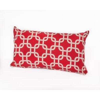 Links Lumbar Outdoor Lumbar Pillow Color: Red