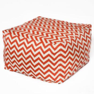 Bean Bag Ottoman Upholstery: Orange