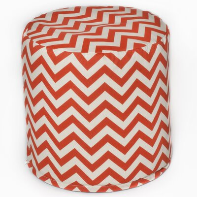Bean Bag Cylinder Ottoman Upholstery: Orange