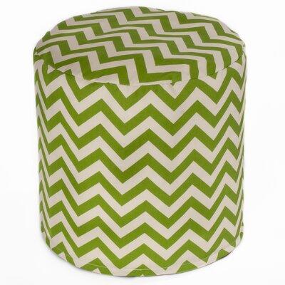 Bean Bag Cylinder Ottoman Upholstery: Green