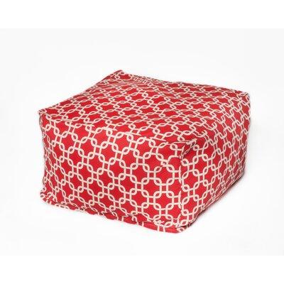 Links Bean Bag Pouf Upholstery: Red