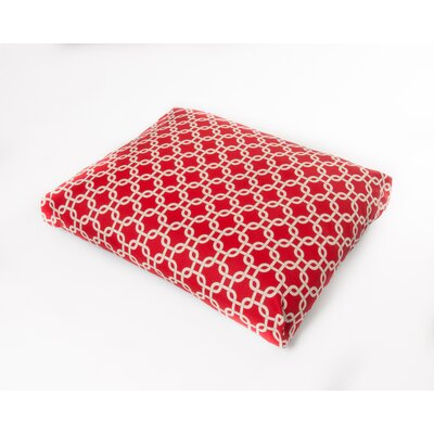 Links Dog Pillow Size: Large (44 L x 36 W), Color: Red