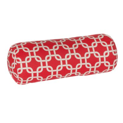 Indoor/Outdoor Bolster Pillow Color: Red