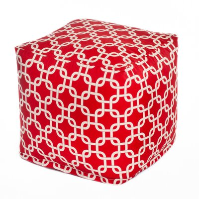Links Bean Bag Cube Upholstery: Red