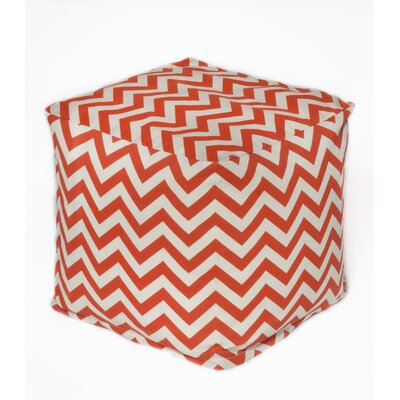 Chevron Bean Bag Chair Upholstery: Orange
