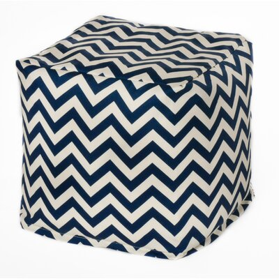 Chevron Bean Bag Chair Upholstery: Navy