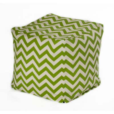 Chevron Bean Bag Chair Upholstery: Green