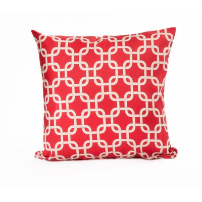 Links Outdoor Throw Pillow Color: Red