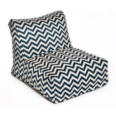 Chevron Bean Bag Lounger Upholstery: Navy