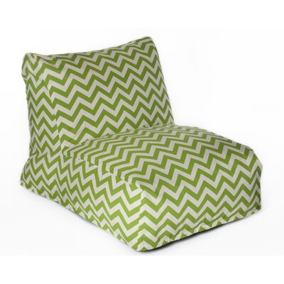 Chevron Bean Bag Lounger Upholstery: Green