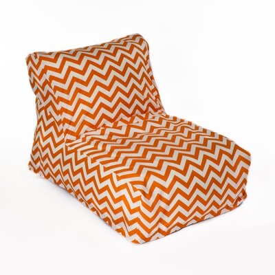 Chevron Bean Bag Lounger Upholstery: Orange