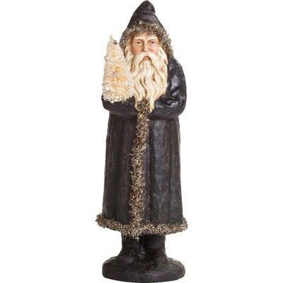 Santa in Black Coat Decor 9051