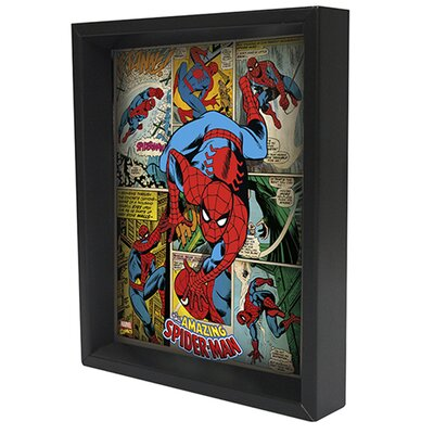 Spider Man Panels Framed 3D Graphic Art EPPLA78028F