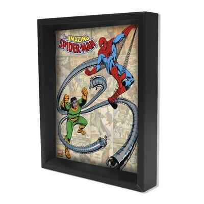 Spider Man Spidey Vs Doc Ock Framed 3D Graphic Art EPPLA78029F