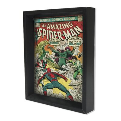 Spider Man The Amazing Spider Man Framed 3D Graphic Art EPPLA78030F