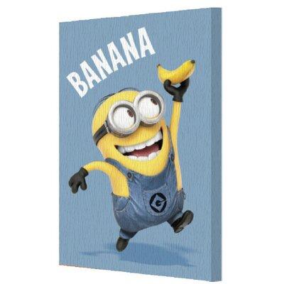 Minions 'Banana' Graphic Art on Canvas CVA00189