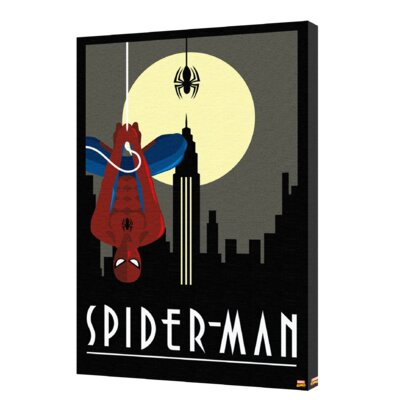'Spider-Man - Art Deco Dark' Graphic Art on Wrapped Canvas CVA00149