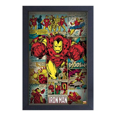 'Iron Man Panels' Framed Graphic Art Print PAE09921F
