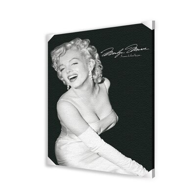 Marilyn Monroe Loved Memorabilia on Wrapped Canvas