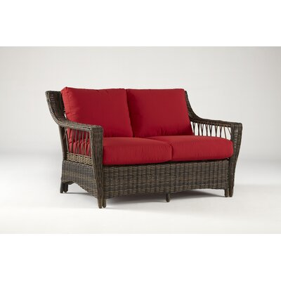 Saint John Loveseat with Cushions Fabric: Jockey Red