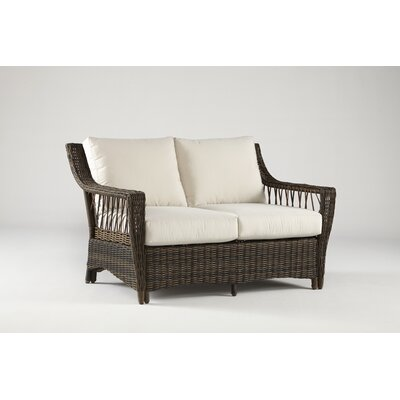 Saint John Loveseat with Cushions Fabric: Aquamarine