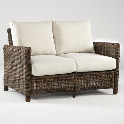Del Ray Loveseat with Cushions Fabric: Aquamarine