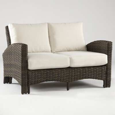 Panama Loveseat with Cushions Fabric: Cornsilk