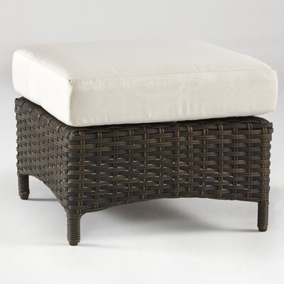 Panama Ottoman with Cushion Fabric: Cornsilk