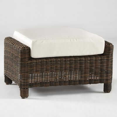 Del Ray Ottoman with Cushion Fabric: Jockey Red
