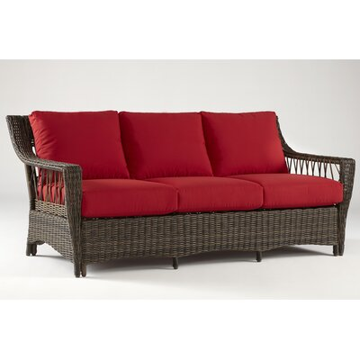 Saint John Sofa with Cushions Fabric: Jockey Red