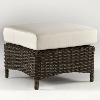 Saint John Ottoman with Cushion Fabric: Sesame