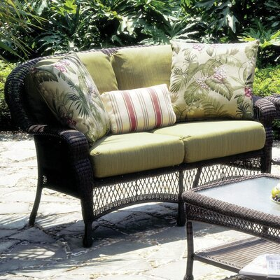 Montego Bay Sofa with Cushions Fabric: Peridot