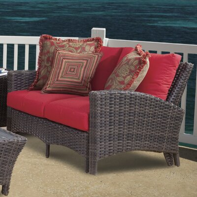 Panama Loveseat with Cushions Fabric: Jockey Red