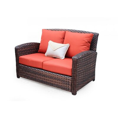 Huntington Loveseat with Cushion Fabric: Canvas