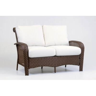 Martinique Loveseat with Cushion Fabric: Cornsilk