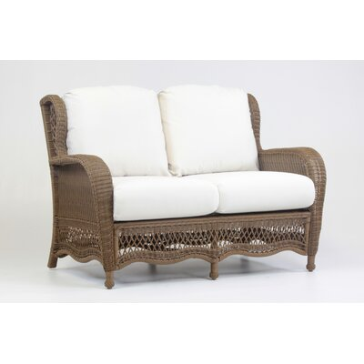 Riviera Loveseat with Cushion Fabric: Jockey Red