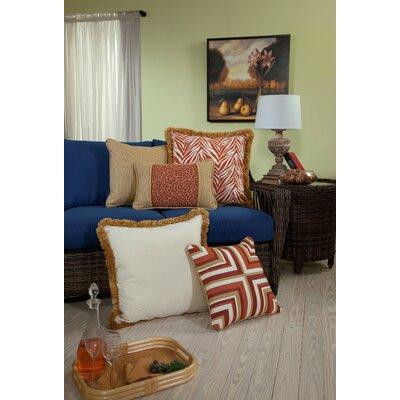 Mandarin Small Indoor/Outdoor Sunbrella Throw Pillow