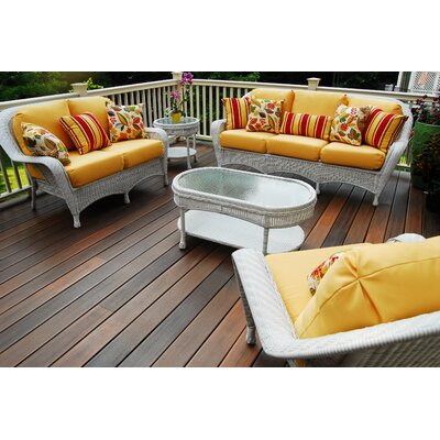 Key West Loveseat with Cushion Fabric: Cornsilk