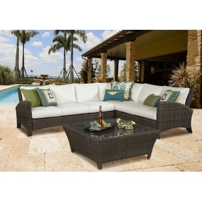 Panama Sectional with Cushion Fabric: Pool