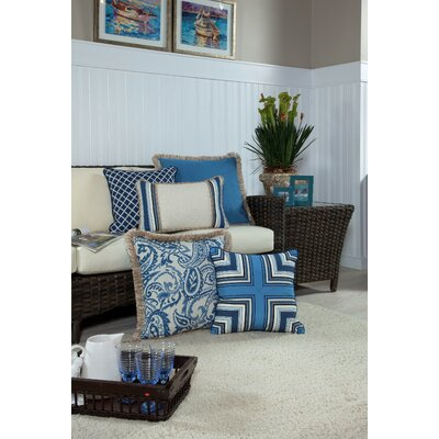 Neptune Small Indoor/Outdoor Sunbrella Throw Pillow
