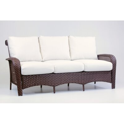 Martinique Sofa with Cushion Fabric: Jockey Red
