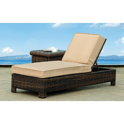 St Tropez Chaise Lounge with Cushion Fabric: Sand
